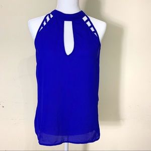 Charlotte Russe | Blue sleeveless top